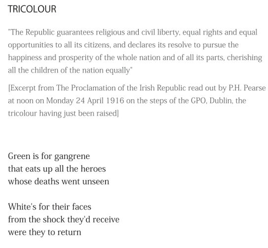 Tricolour (excerpt) by Patrick Stack