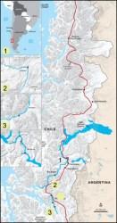 Chilean Patagonia Map by John McCauley