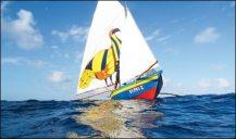 The Sipriz under sail Photo: courtesy of Patrick Symmes