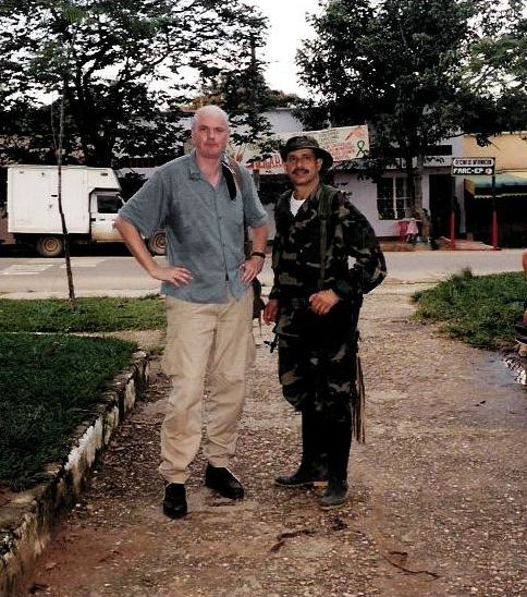 With FARC guerrilla commander Simon Trinidad, Columbia, 2000: Miraculous Fishing, Harper's
