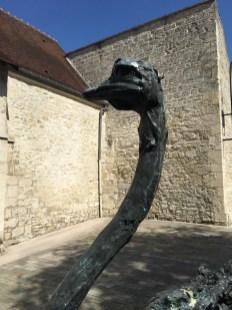 Life size Ostrich (sold) at Compiègne exhibition
