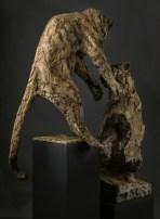 Leopards 73x98-65x117cm 1/8 bronze ©photo M Constantini