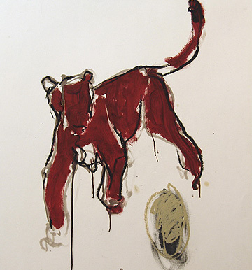 Lioness 110x90cm mixed media on paper ©2005