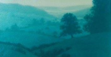 TSpierenburg Haute-Marne, crépuscule Oil on canvas 60x120cm