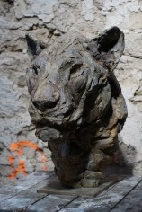 Head of a Lioness III 55x35x45cm 1/8 bronze