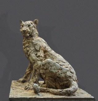 Panther sitting - 70x70x70cm - 1/8