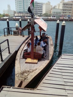 You can get across the Creek in one of the boats for just one dirham