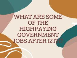 WHAT ARE SOME HIGH PAID GOVERNMENT JOBS AFTER 12TH_