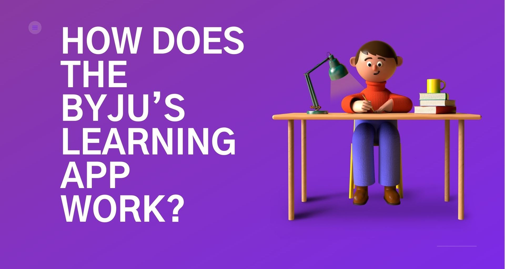 HOW DOES THE BYJU'S LEARNING APP WORK?