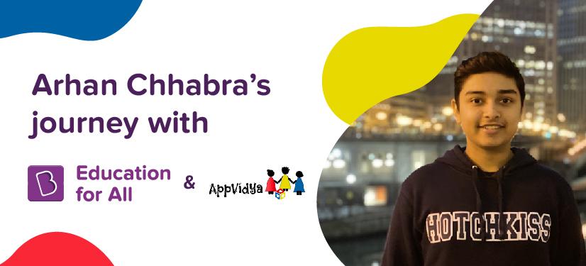 Arhan Chhabra BYJU's Education for All