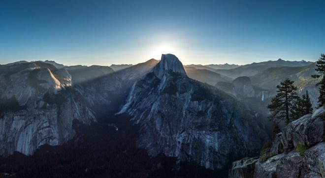 Yosemite Panorama Glacier Point Half Dome