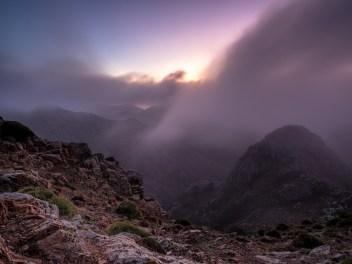 Ziehender Nebel auf dem Monte Castello