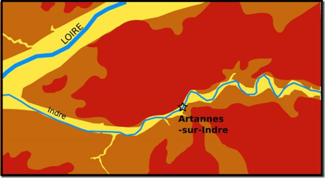géologie d'Artannes-sur-Indre
