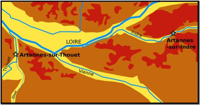 Géologie et situation des deux Artannnes