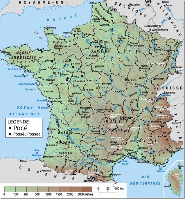 Toponymes Pocé en France