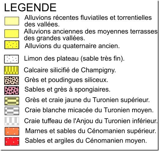 Légende de la carte géologique de Saint-Cyr-en-Bourg (49)