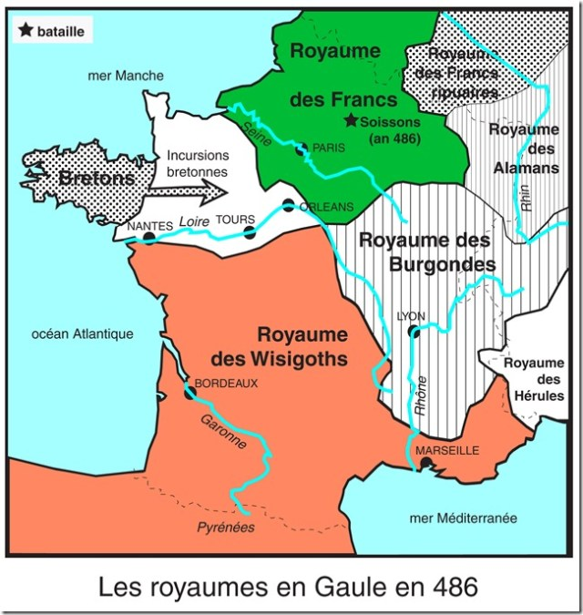 La Gaule vers 486