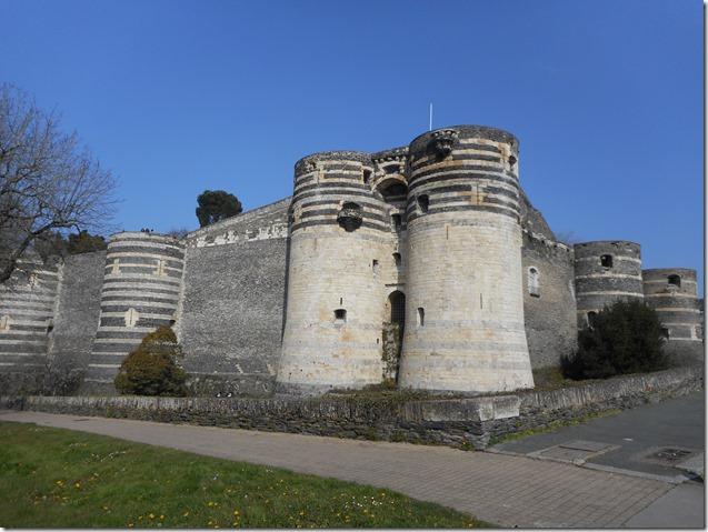 L'actuel château d'Angers
