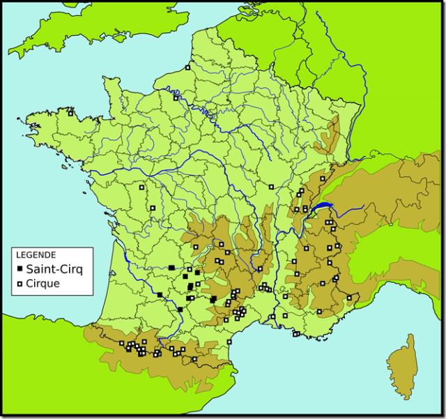 Toponymes Saint-Cirq Cirque
