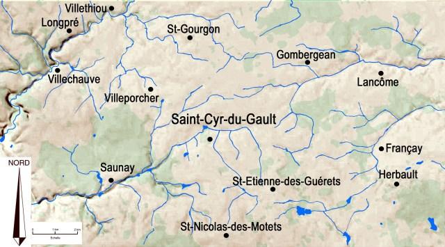 Autour de Saint-Cyr-du-Gault