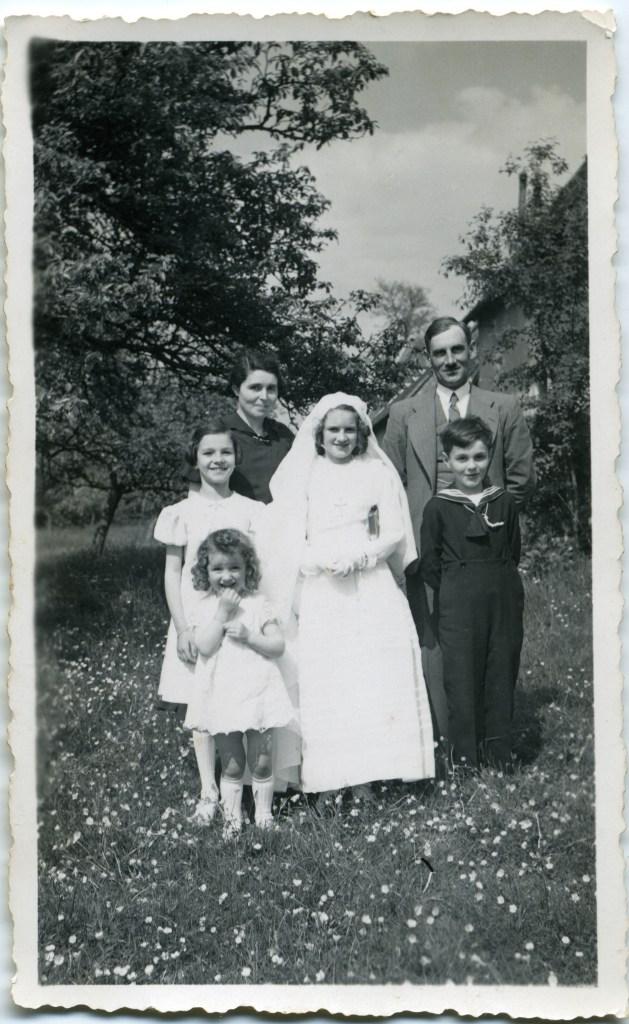 Première communion de sa fille aînée