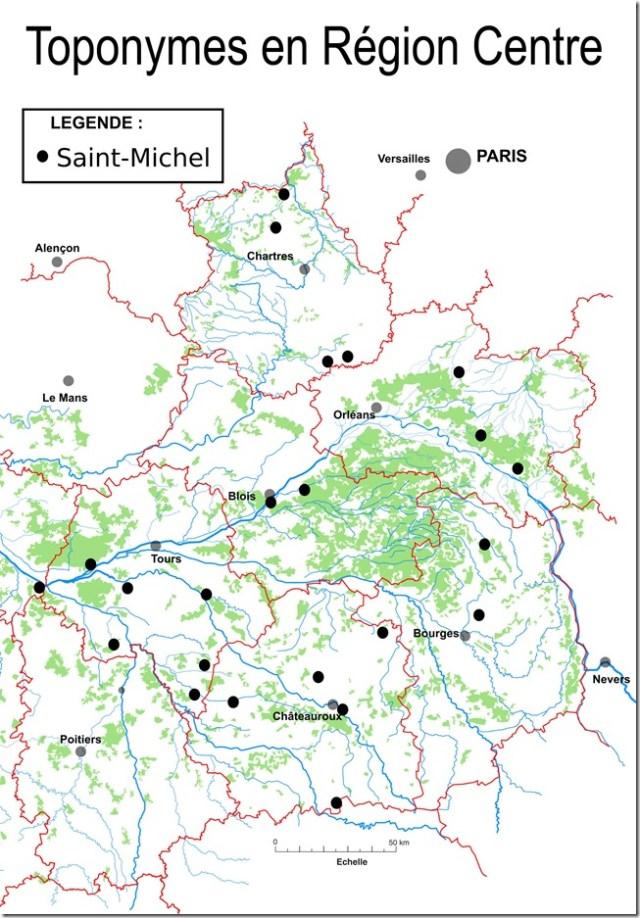 Les toponymes Saint-Michel en Région Centre