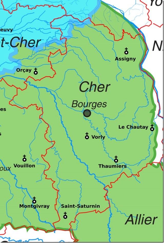 Les églises Saint-Saturnin dans le département du Cher