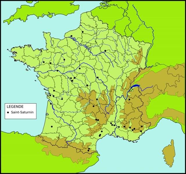 Les toponymes Saint-Saturnin en France