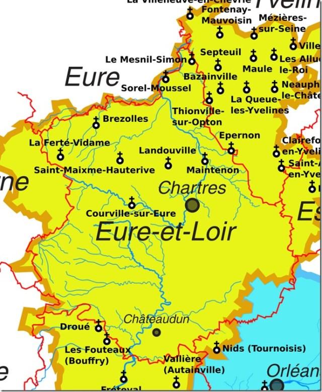 Les églises Saint-Nicolas en Eure-et-Loir (28)