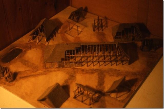 Maquette d'un habitat du Haut-Moyen-Age mérovingien