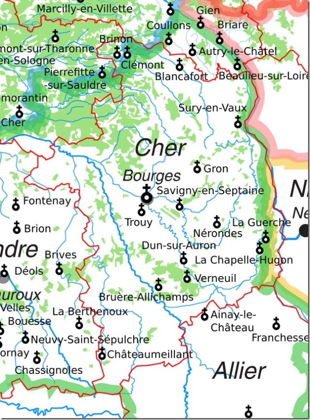 Les églises Saint-Etienne dans le Cher