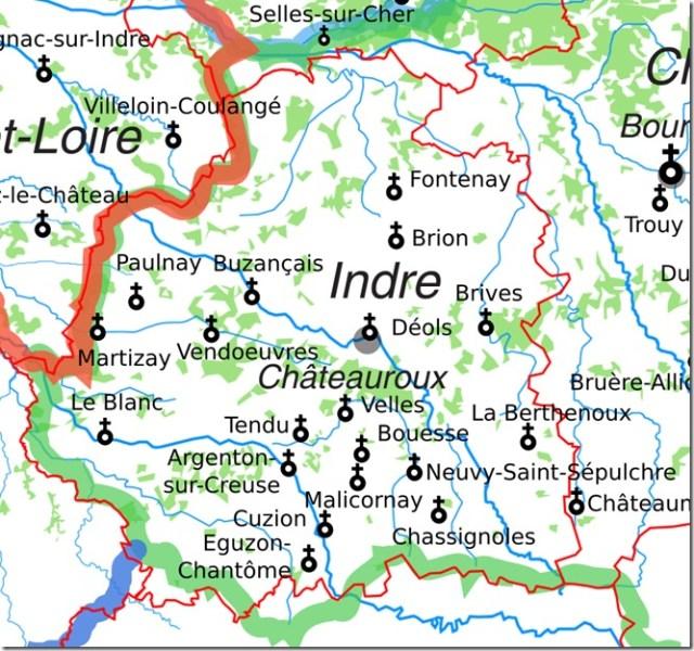 Les églises Saint-Etienne dans l'Indre
