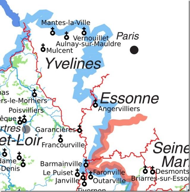 Ancien diocèse de Chartres dans les Yvelines et dans l'Essonne