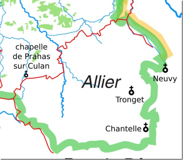 Les églises Saint-Vincent dans l'ancien diocèse de Bourges dans l'Allier