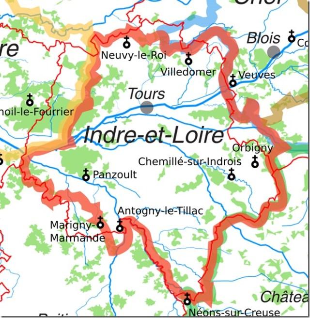 Les églises Saint-Vincent en Indre-et-Loire