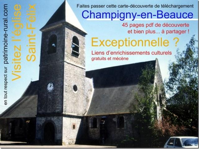 Champigny-en-Beauce (41) Carte découverte