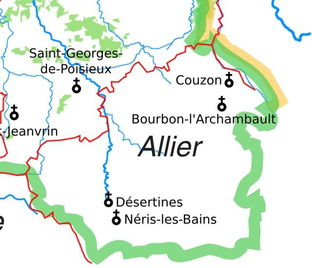 Les églises Saint-Georges de l'Allier de l'ancien diocèse de Bourges