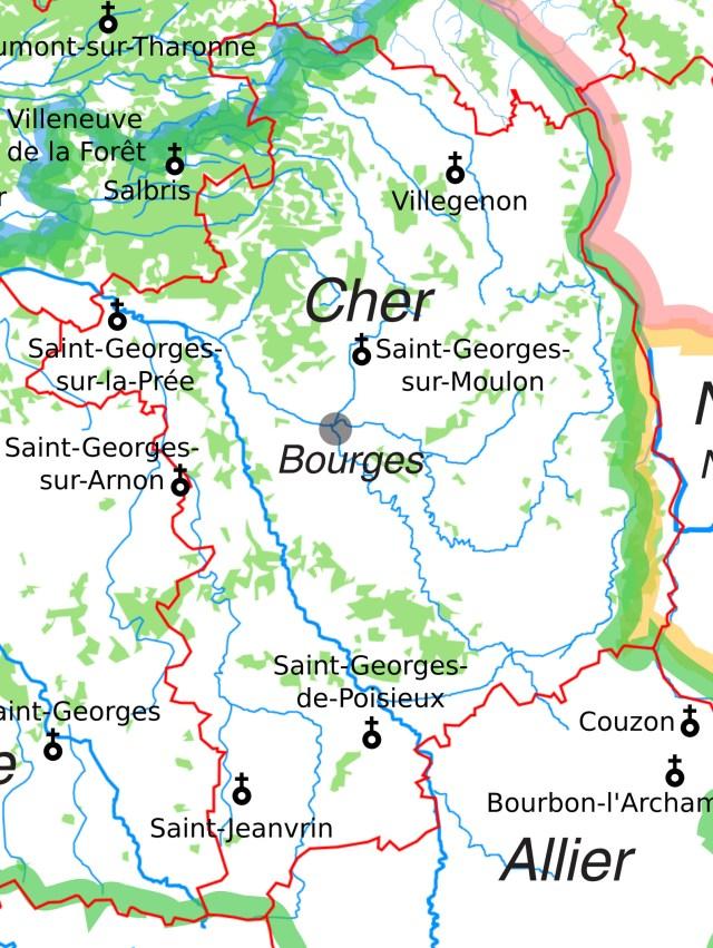 Les églises Saint-Georges dans le Cher