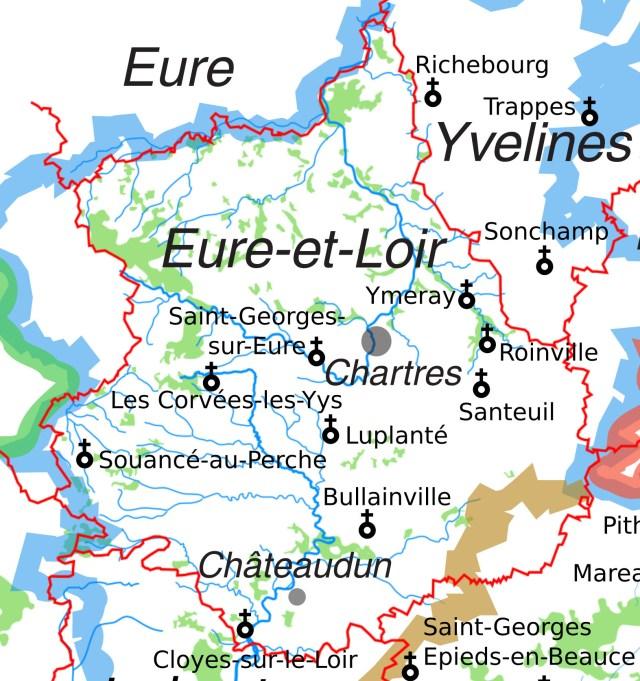 Les églises Saint-Georges en Eure-et-Loir