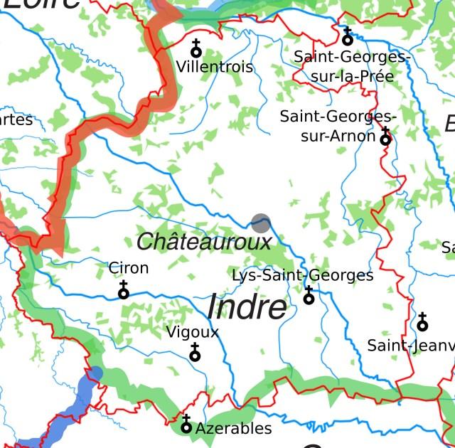 Les églises Saint-Georges dans l'Indre