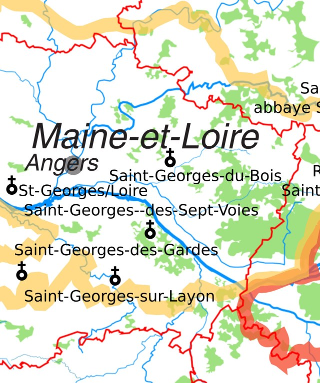 Les églises Saint-Georges en Maine-et-Loire