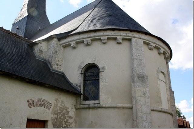 Sacristie et chevet de l'église Notre-Dame de Françay (Loir-et-Cher ; 41)