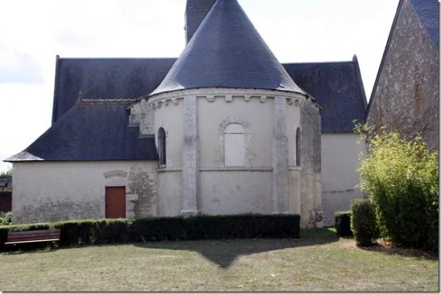 Le chevet, les chapelles et la sacristie de l'église Notre-Dame de Françay