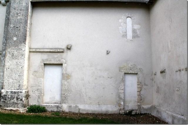 Mur nord de l'église Notre-Dame de Françay (41)