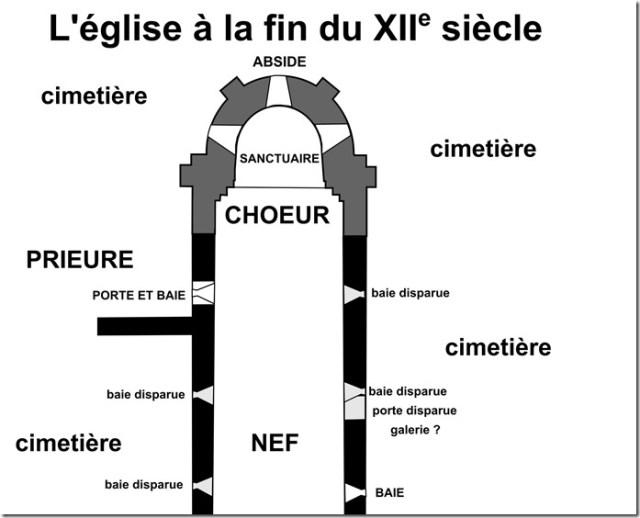 Plan choeur XIUIe s