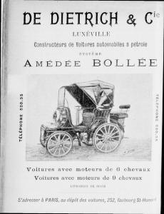 de-dietrich-bollée-1899-230x300 Publicité de 1899 Lorraine Dietrich Pub 1899
