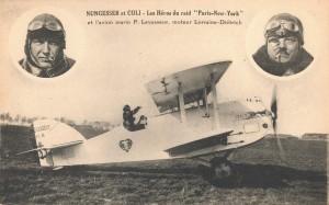 Carte_postale-Nungesser_et_Coli-1927-300x187 L'Oiseau Blanc traverse l'Atlantique en 1927 L'Oiseau Blanc 1927 Lorraine Dietrich