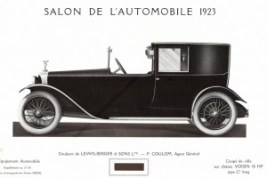 1923 - Coupé de ville Voisin 18 HP