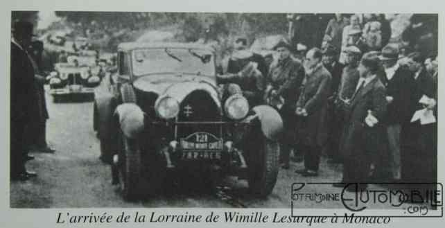 Lorraine Dietrich de JP Wimille Monté Carlo 1931