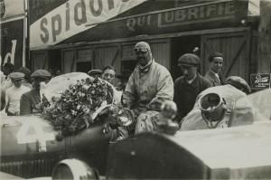 1925. Les 24 heures du Mans.La Lorraine. Stalter.Edouard Bussois. Epreuve argentique d'époque en noir et blanc